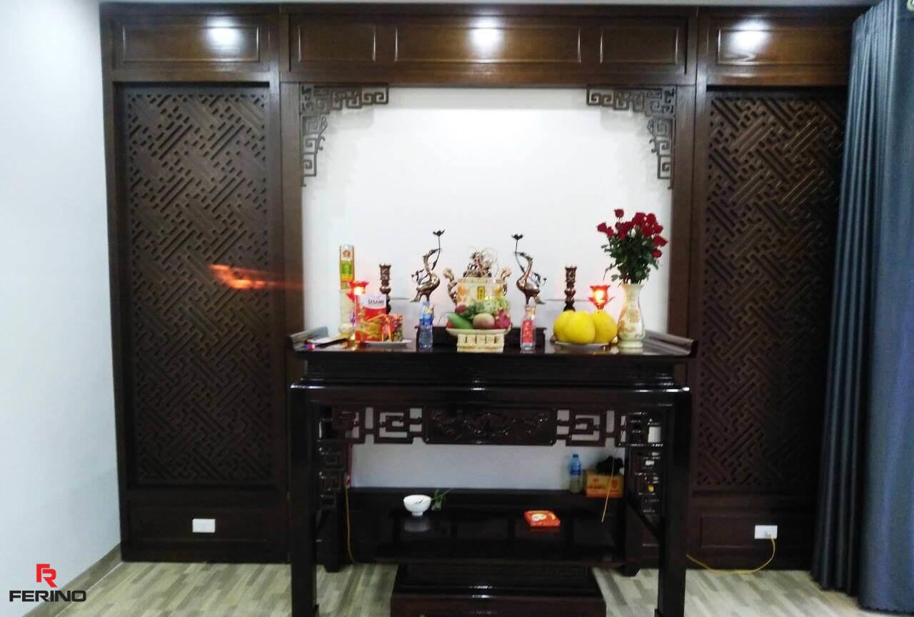 Thi công tấm ốp pvc giả đá nhà anh Dũng Thanh Trì, Hà Nội