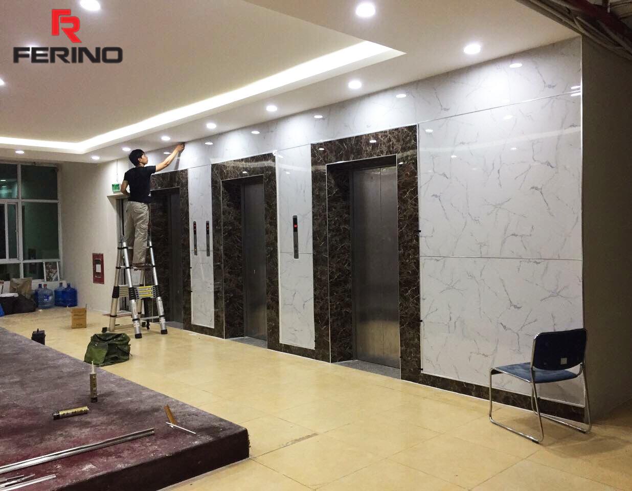 Công trình thi công tấm ốp giả đá marble tại trung tâm tổ chức sự kiện huyện Đông Anh