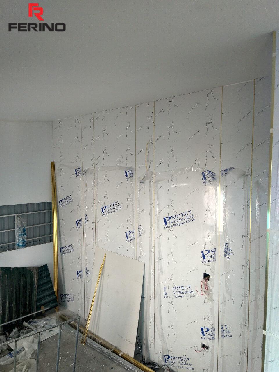 Công trình thi công tấm ốp giả đá tại nhà chị Xuân Từ Liêm Hà Nội