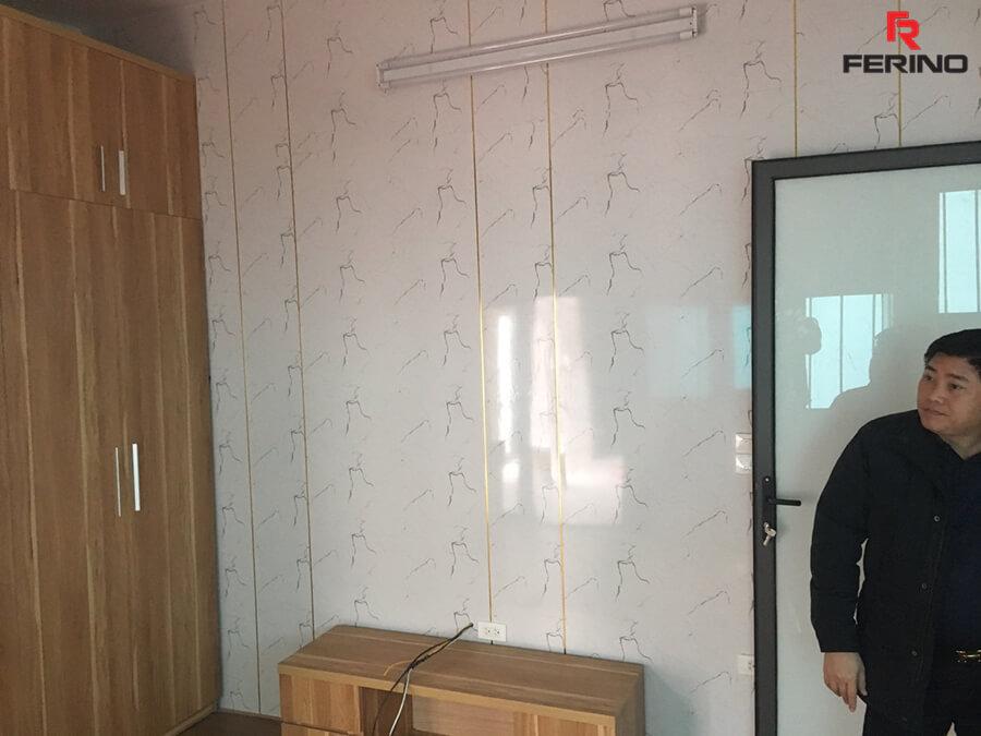 Công trình thi công tấm ốp PVC nhà anh Hùng Cầu Giấy Hà Nội