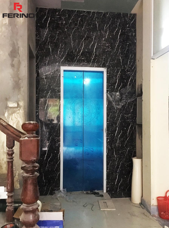 Tấm ốp giả nhựa đá marble đen