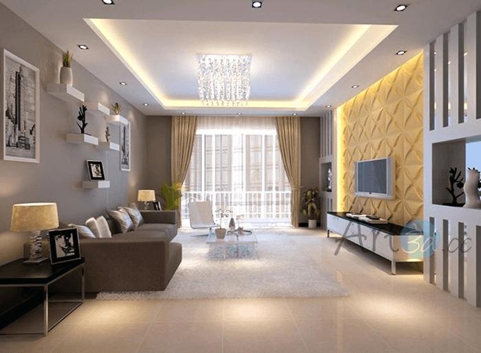 Một số gợi ý lựa chọn tấm ốp tường nhựa cho phòng khách nhà bạn-3