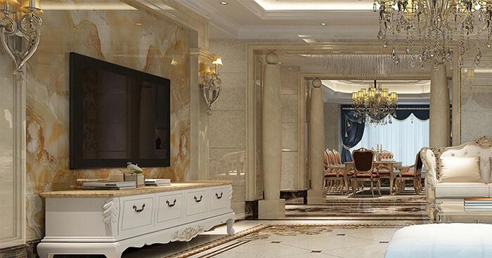 Tấm ốp tường nhựa phòng khách - Thẩm mỹ cao trong kiến trúc nội thất