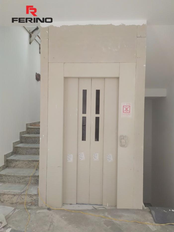 Thi công tấm ốp PVC vân đá thang máy tại Green Bay